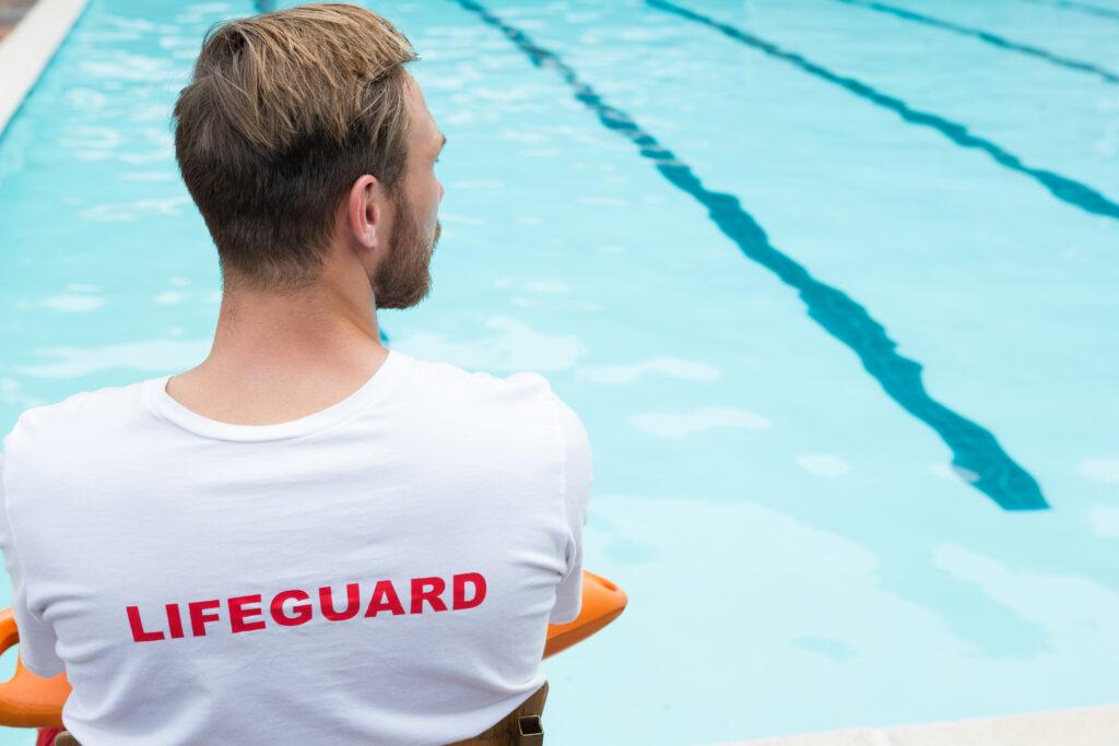 lifeguard supervising pool